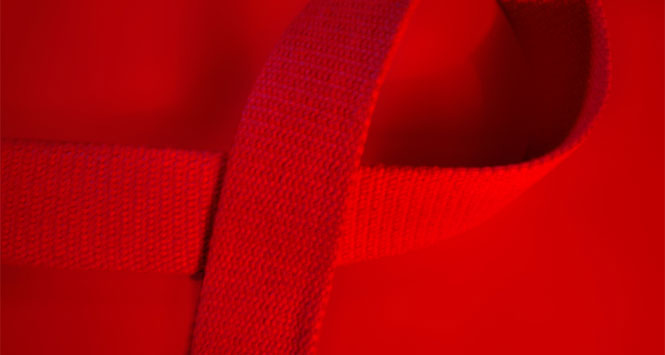 Red-cotton-aids-ribbon