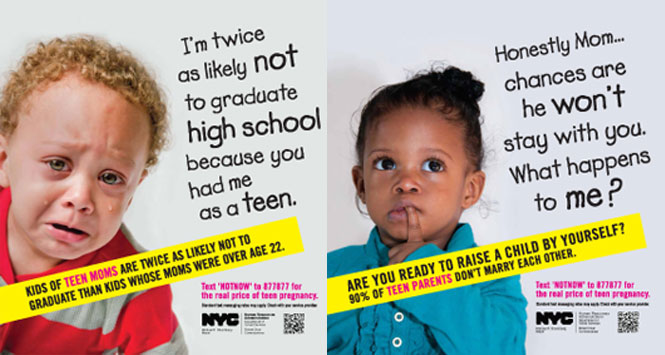 NYC Pregnancy Ads Shame Teen Parents