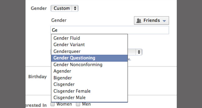 Facebook Now Offers More Gender Options