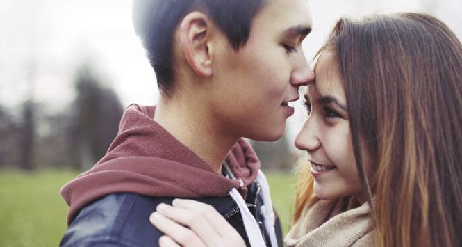 Intimate-teen-couple