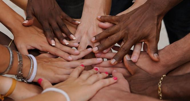 Multiracial-hands