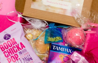 bonjour jolie, tampax, periods, gift, christmas