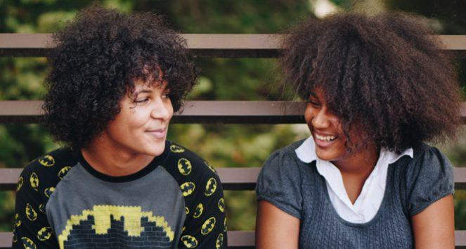teens, talking, laughing