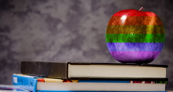 lgbtq-apple-on-desk